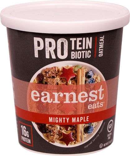 Maple Brown Sugar Oatmeal: Eat Earnest Eats Pro: Protein & Probiotic Oatmeal, Mighty Maple Instead