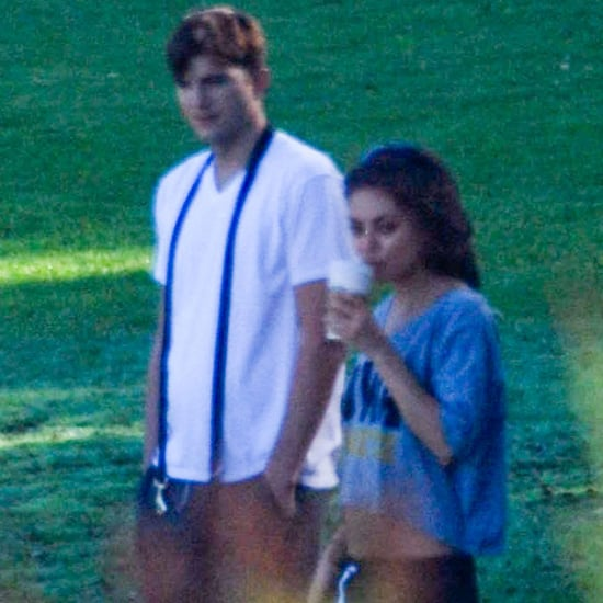 Ashton Kutcher and Mila Kunis Walk the Dog | Pictures in LA