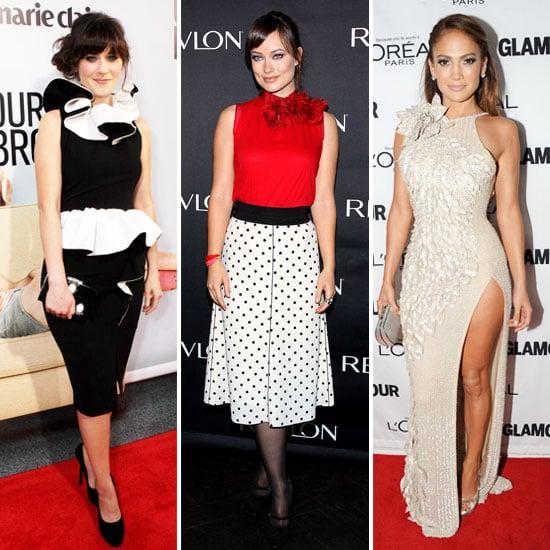 Celebs Get Frilly With Embellished Necklines. Follow Jaime King, Emily Blunt, Jennifer Lopez and Elle Fanning's Lead!