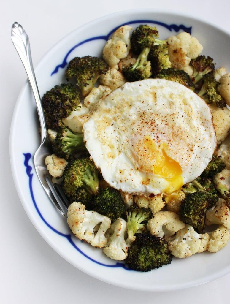 Roasted Veggies With Fried Egg