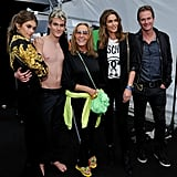 Cindy Crawford and Kaia Gerber at Moschino Show 2016