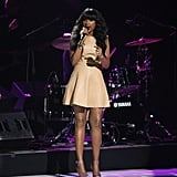Jennifer Hudson Rocks Leather and the Microphone at the Nickeloden Upfronts