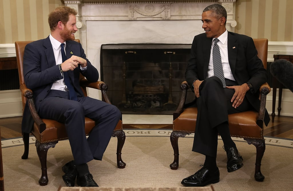 Prince Harry and Barack Obama Photos
