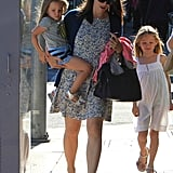 Jennifer Garner spent Sunday in LA with Seraphina Affleck and Violet Affleck.
