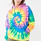 Vintage Neon Tie-Dye Hoodie Sweatshirt