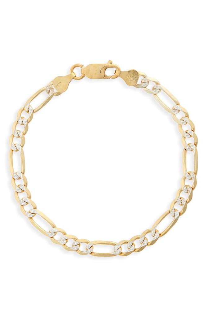 Argento Vivo Figaro Chain Bracelet