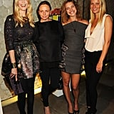 It was a fashion-packed night in 2010 for Claudia Schiffer, Stella McCartney, Natalia Vodianova, and Gwyneth Paltrow at Stella's London store.