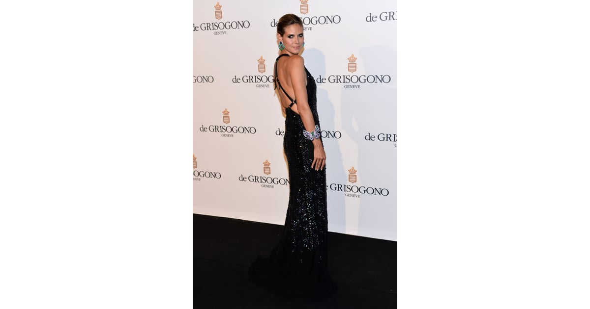 Heidi Klum revealed a seriously sexy back on her Roberto ...
