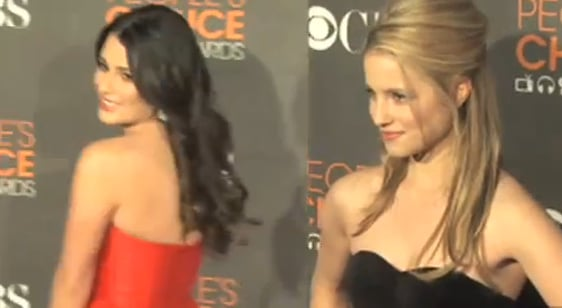 Glee Stars Lea Michele and Dianna Agron at 2010 People's Choice Awards 2010-01-10 12:22:11