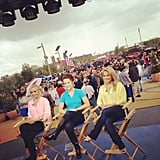US gymnasts Nastia Liukin, Carly Patterson, and Shawn Johnson sat down on Today. Source: Twitter user todayshow