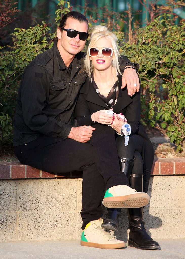The two sat close together in LA in January 2012.