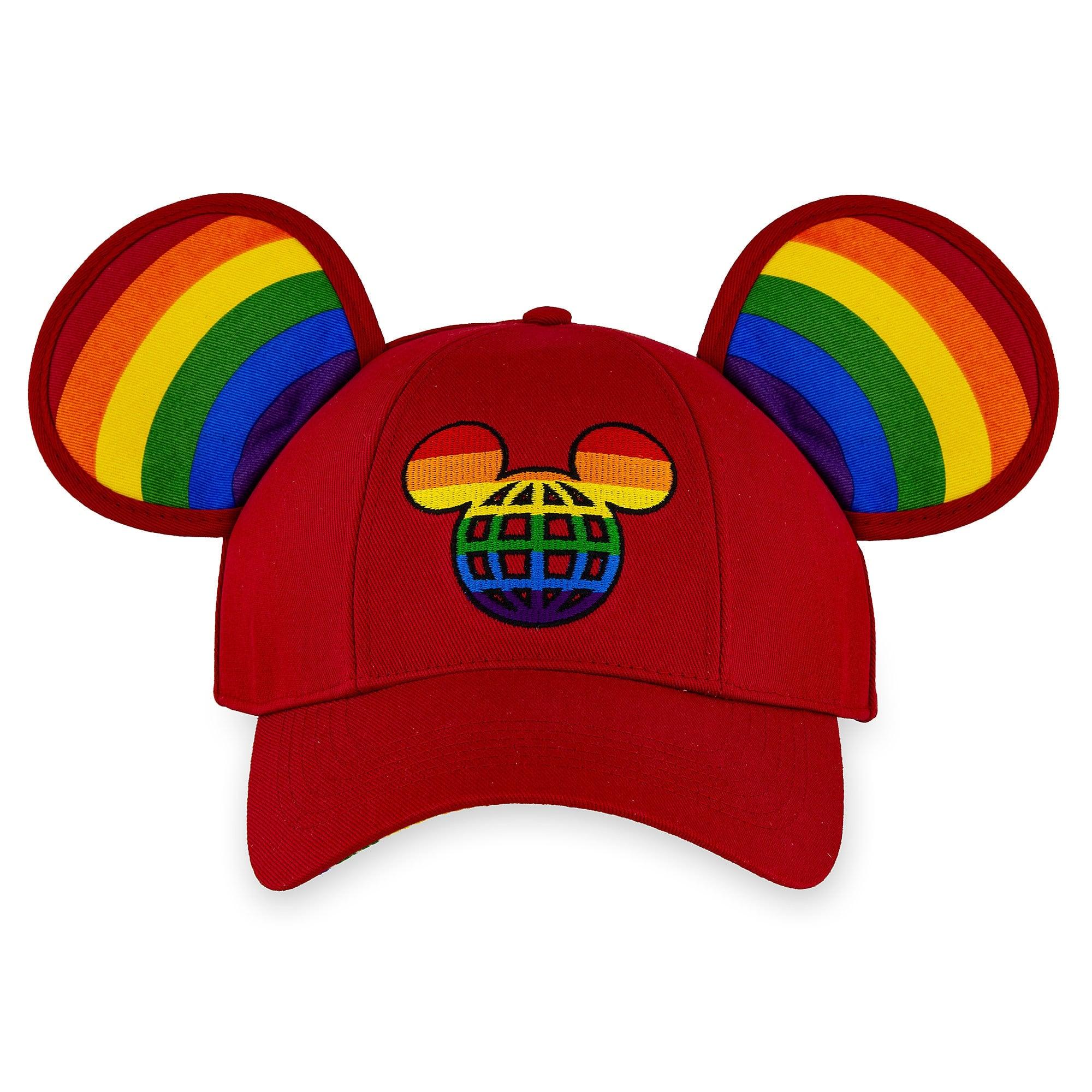 d96a962b4da52b Rainbow Disney Collection Mickey Mouse Ears Baseball Cap For Adults — Walt  Disney World