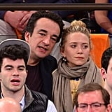 Mary-Kate Olsen and Olivier Sarkozy Show Courtside PDA —For the 8th Time