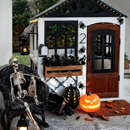 Kids' Playhouses Decorated For Halloween