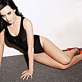 She stripped down to a black leotard and heels for Maxim's January 2011 issue.