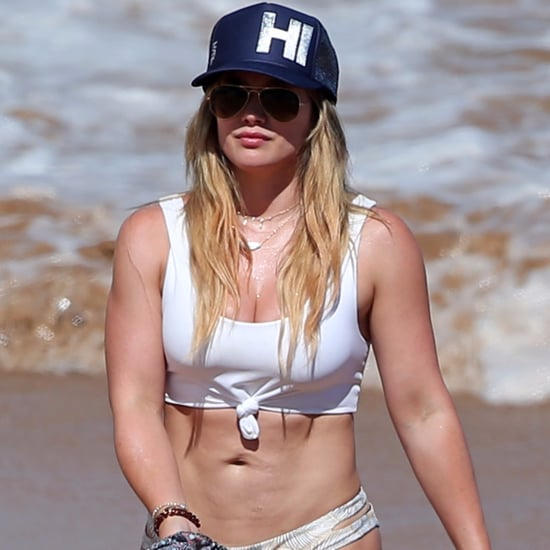 Hilary Duff White Bikini in Hawaii