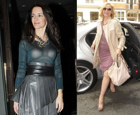 Pictures of Kim Cattrall and Kristin Davis in London