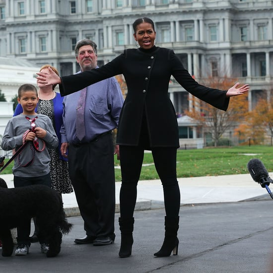 Michelle Obama's Mid-Calf Boots November 2016
