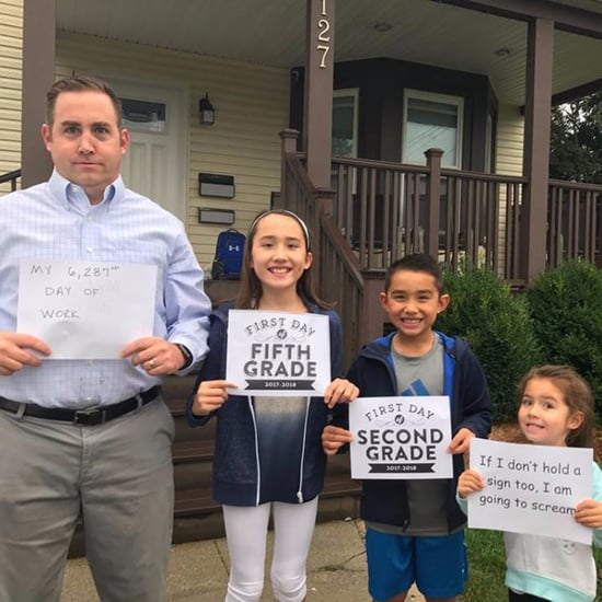 Family's Funny Back-to-School Photo
