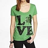 Express sequin shamrock love tee ($40)