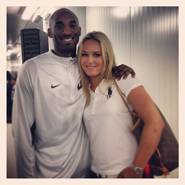 Lindsey Vonn crossed paths with fellow Olympian Kobe Bryant. Source: Instagram user lindseyvonn