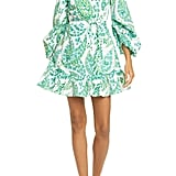 Staud Carolina Butterfly Paisley Print Stretch Cotton Minidress