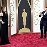 Jason Sudeikis stepped back to take a snap of his pregnant fiancée, Olivia Wilde, on the red carpet — and she wasn't the only mom-to-be at the Oscars.