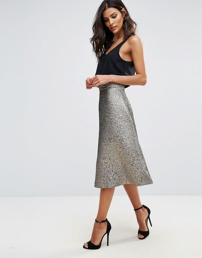 2b8ca73752 AX Paris Jaquard Skirt   Metallic Skirts 2017   POPSUGAR Fashion Photo 4
