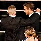 Justin Timberlake and Ryan Gosling at the 2017 Oscars