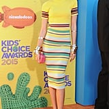 For the 2015 Kids' Choice Awards, Zendaya made a bold statement in DKNY.
