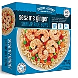 Cheating Gourmet Sesame Ginger Shrimp Rice Bowl