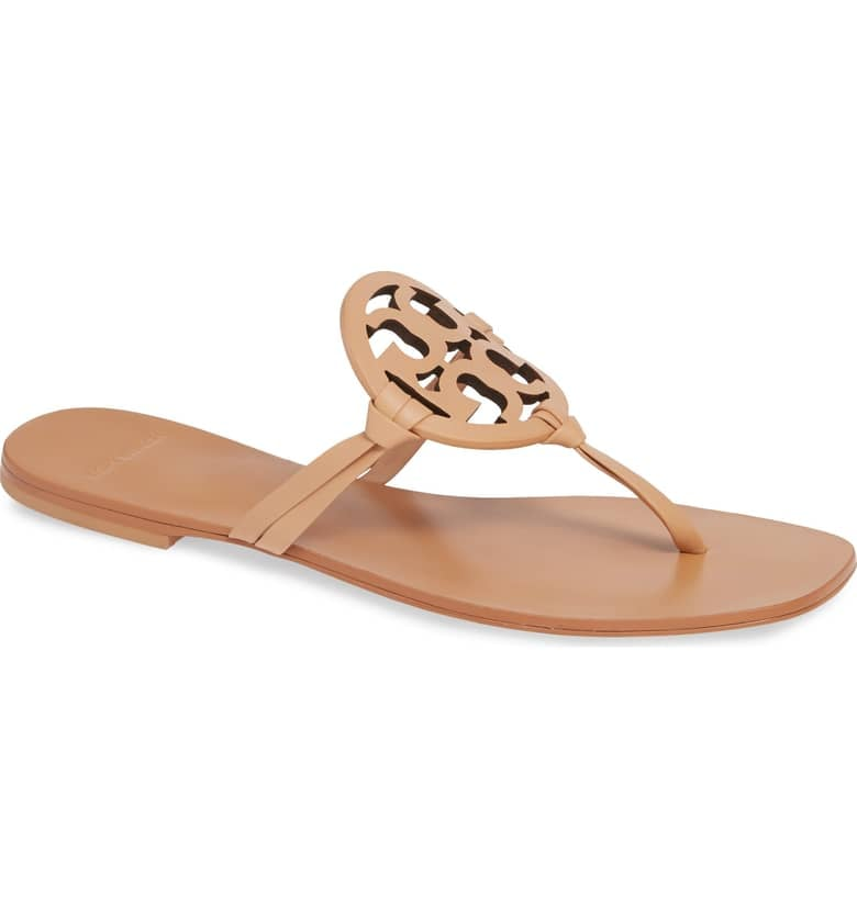 0f311302a Tory Burch Miller Square-Toe Thong Sandals
