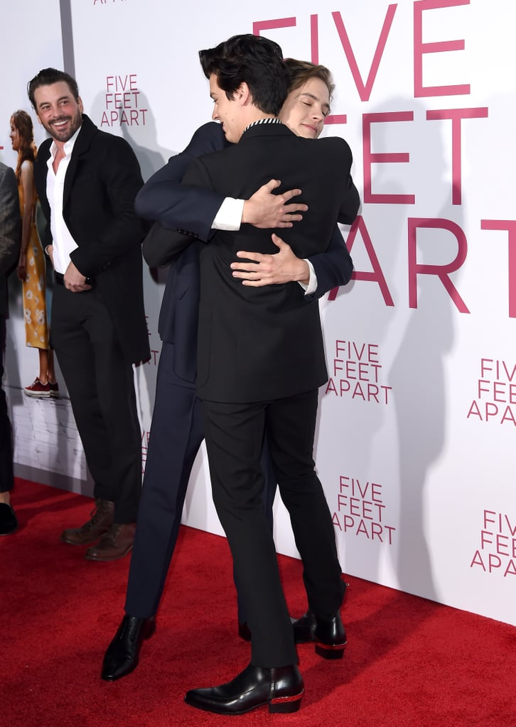 "This past week is definitely giving us flashbacks to our Disney Channel days. The Jonas Brothers reunited, Miley Cyrus sang along to the Hannah Montana theme song, and Cole and Dylan Sprouse recently made an adorable brotherly appearance together. On Thursday, the identical twins put their ""suite"" bond on display as they attended the premiere of Cole's movie, Five Feet Apart. In addition to flashing matching grins for the cameras (Aww!), Dylan shared a cute moment with his brother as he leaned in for a hug (Double aww!). Even Cole's Riverdale costar, Skeet Ulrich, couldn't help but smile over the moment. Same, Skeet, same!       Related:                                                                                                           Cole and Dylan Sprouse Still Have a ""Suite"" Sibling Bond After All These Years"