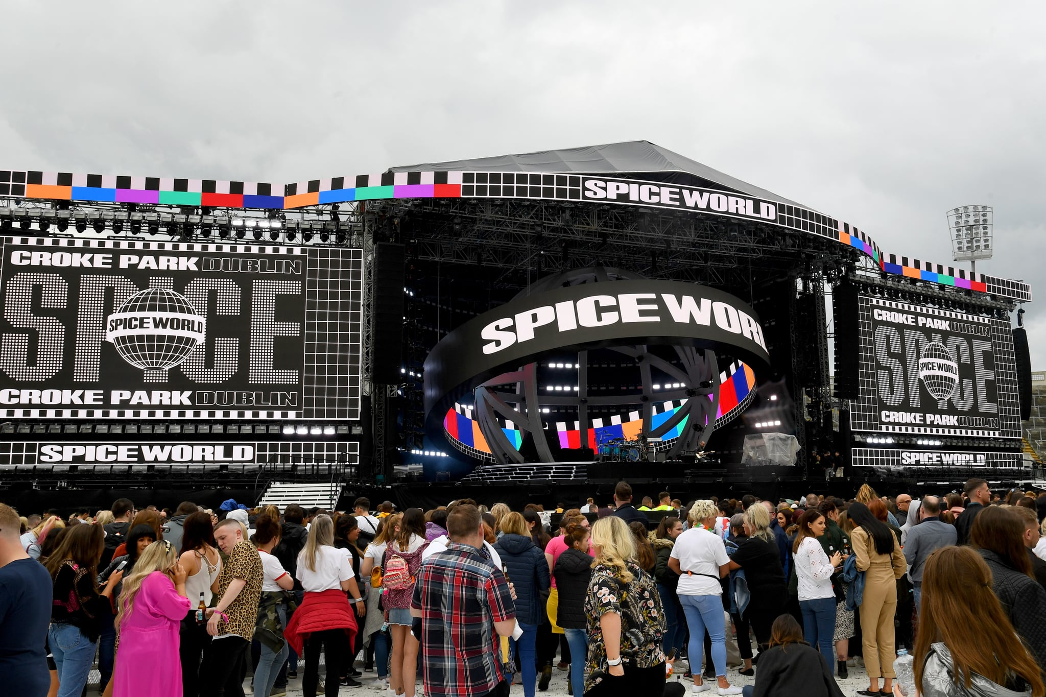 DUBLIN, IRELAND - MAY 24: Fans arrive to watch The Spice Girls perform on the first night of the bands tour at Croke Park on May 24, 2019 in Dublin, Ireland. (Photo by Dave J Hogan/Getty Images)