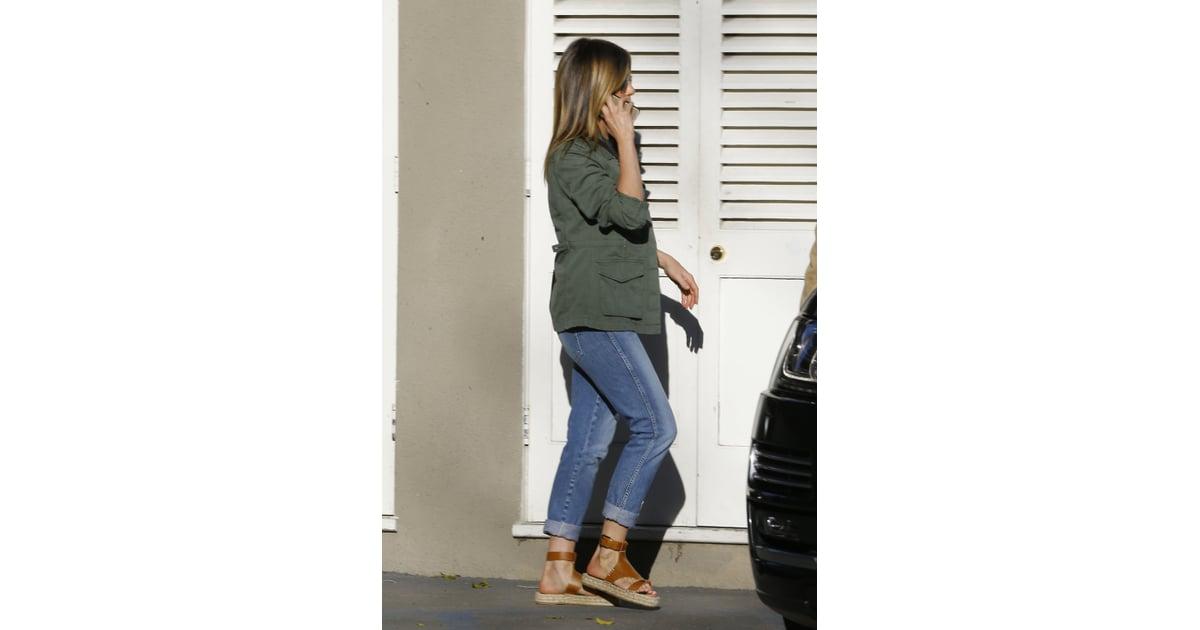 Jennifer Aniston Wearing Soludos Espadrille Sandals