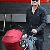 Brian Austin Green was on dad duty in NYC while taking his son Noah on a stroll.