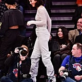 Kendall Jenner White Thigh High Boots