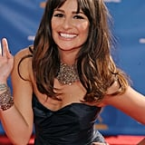 Lea Michele's bling made her Oscar de la Renta gown that much more luxurious.