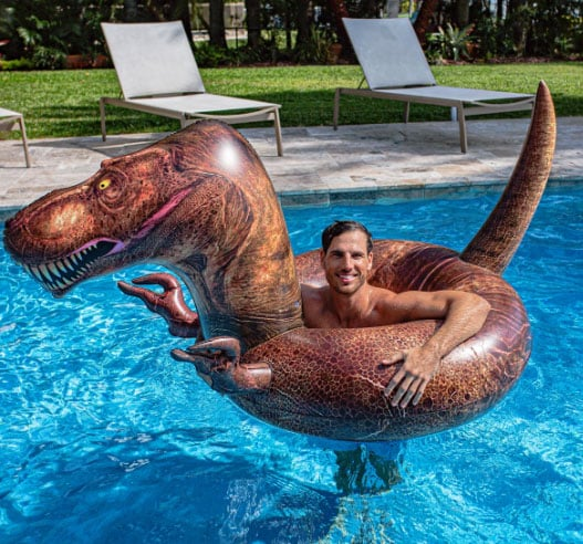 PoolCandy Inflatable T-Rex Dinosaur