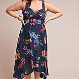 Vivienne Maxi Dress in Blue Motif