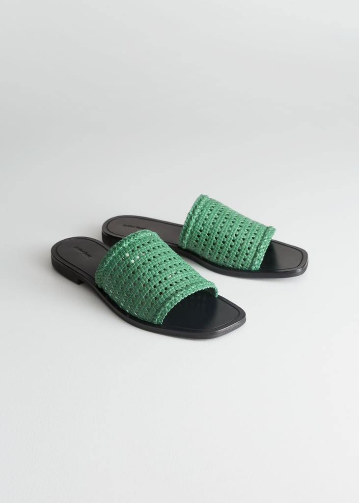 & Other Stories Square Toe Woven Sandals