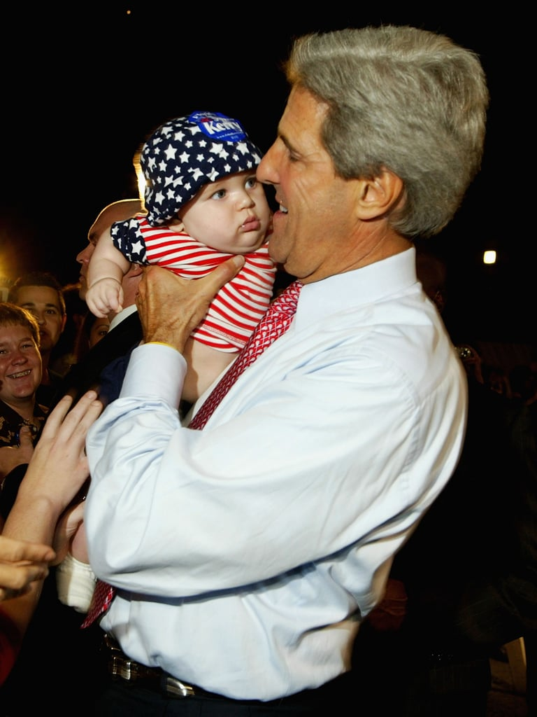 A Fort Lauderdale baby didn't look too impressed with John Kerry's campaign stop in 2004.