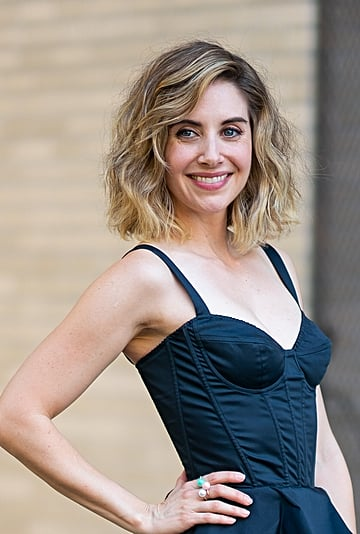 Alison Brie Blunt Bob With Bangs