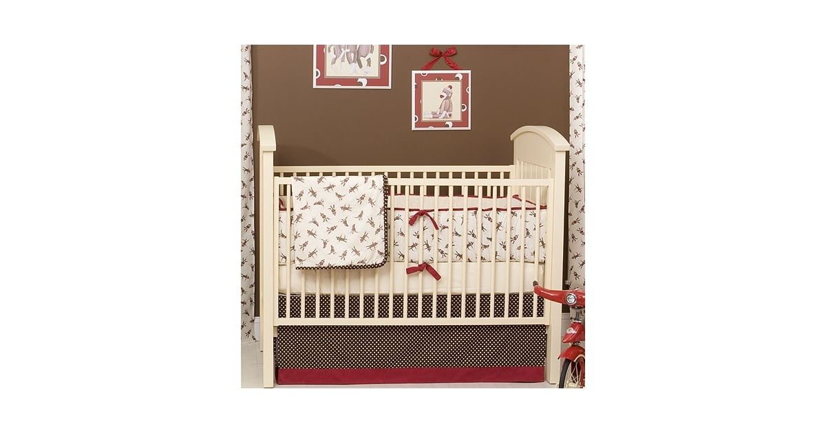 Posh Tots Retro Sock Monkey Baby Bedding 562 Quit Monkeyin Around Fun Finds For Your Jungle Of A Nursery Popsugar Family Photo 4