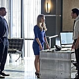Arrow David Ramsey, Emily Bett Rickards, and Stephen Amell on Arrow.