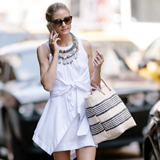 Olivia Palermo Street Style: White Dress, Two Ways