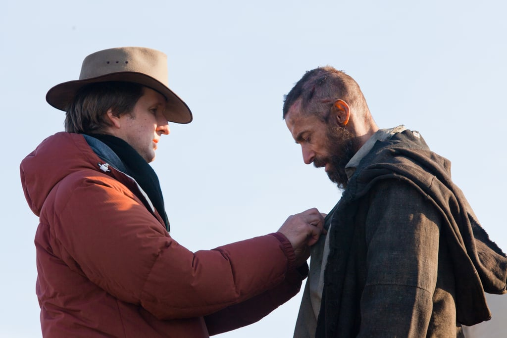 Director Tom Hooper and Hugh Jackman on the set of Les Misérables.