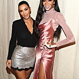 Kim and Winnie Harlow celebrated their KKW Beauty collaboration in NYC in September 2019.