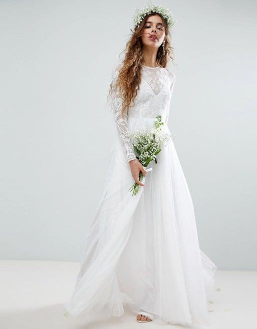 Asos Edition Embroidered Bodice Maxi Wedding Dress