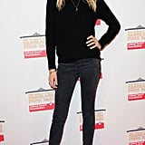 Model Lily Donaldson kept it casual in all black.